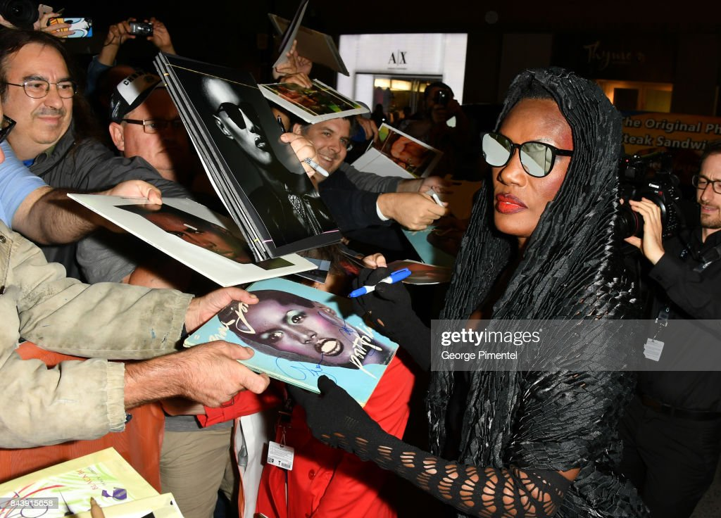 Grace Jones attends the 'Grace Jones: Bloodlight And Bami' premiere during the 2017 Toronto International Film Festival at The Elgin on September 7, 2017 in Toronto, Canada.