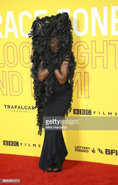 Grace Jones attends the 'Grace Jones Bloodlight And Bami' UK premiere at BFI Southbank on October 25 2017 in London England