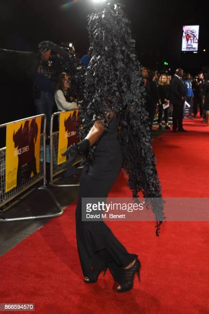 Grace Jones attends the UK Premiere of 'Grace Jones Bloodlight And Bami' at the BFI Southbank on October 25 2017 in London England
