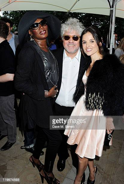 Grace Jones director Pedro Almodovar and actress Elena Anaya attend the UK Premiere of 'The Skin I Live In' opening the Film4 Summer Screen with...