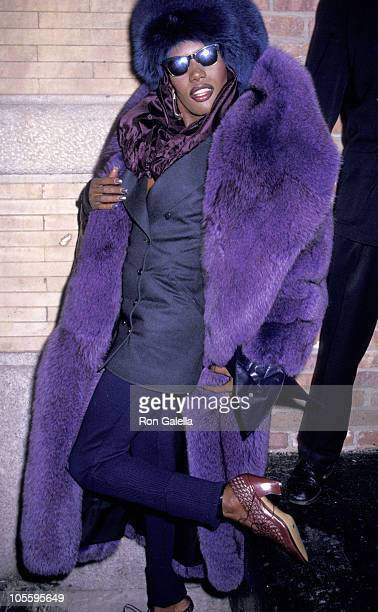 Grace Jones during Grace Jones Sighted at Le Vie en Rose Restaurant at Le Vie en Rose Restaurant in New York City New York United States