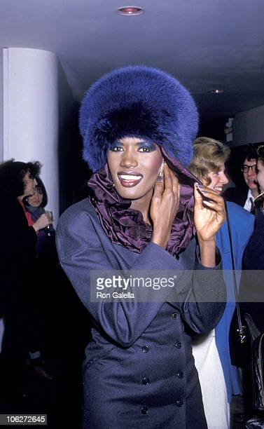 Grace Jones during Grace Jones Sighted at Le Vie en Rose Restaurant at Le Vie en Rose Restaurant in New York City, New York, United States.