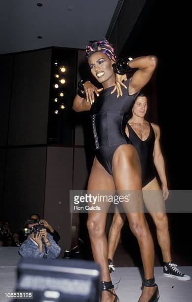 Grace Jones during The Annual Girls Town of Italy Dinner and Dance November 3 1987 at Equitable Life Tower in New York City New York United States