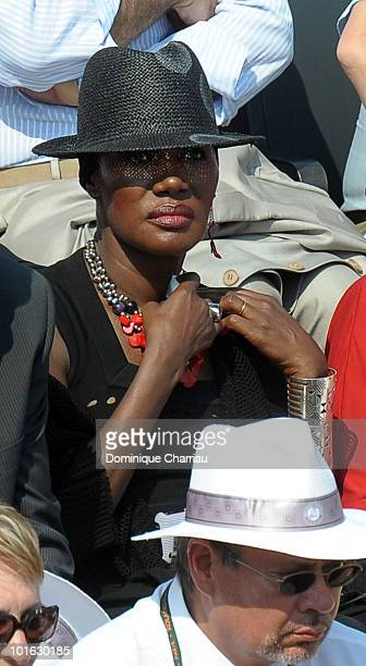 Grace Jones is seen at the French Open on June 3 2010 in Paris France