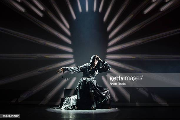 Grace Jones performs at Gutterdammerung Live Fan Event at The Forum on November 12 2015 in London England