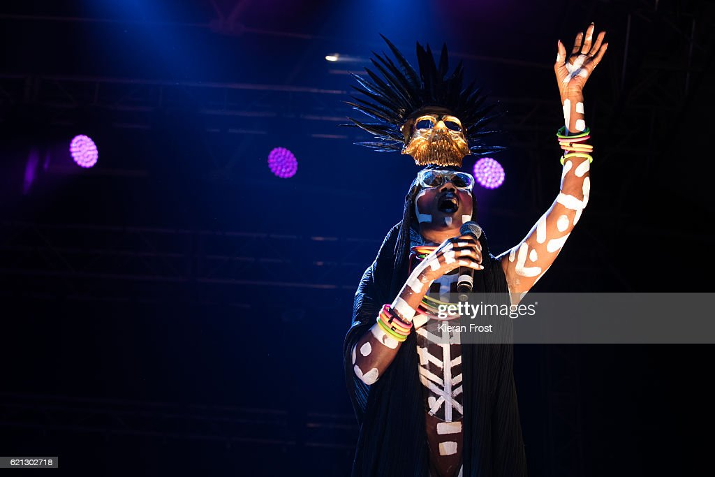 Grace Jones performs at Metropolis Festival at the RDS Concert Hall on November 5, 2016 in Dublin, Ireland.