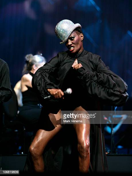 Grace Jones performs at Night of the Proms at Gelredome on November 13 2010 in Arnhem Netherlands