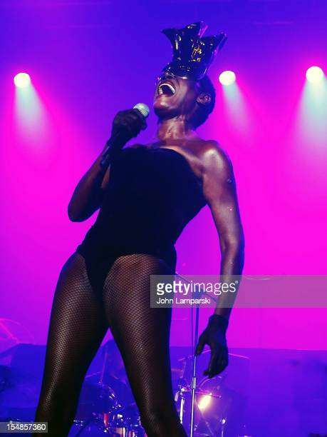 Grace Jones performs at Roseland Ballroom on October 27 2012 in New York City