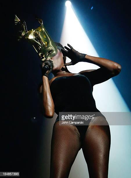 Grace Jones performs at Roseland Ballroom on October 27 2012 in New York City