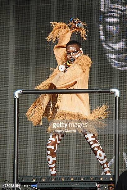 Grace Jones performs at the British Summer Time in Hyde Park on June 21 2015 in London United Kingdom