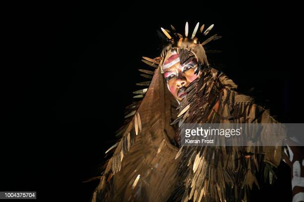 Grace Jones performs at Trinity College Park on July 23 2018 in Dublin Ireland