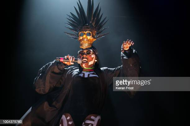 Grace Jones performs at Trinity College Park on July 23, 2018 in Dublin, Ireland.