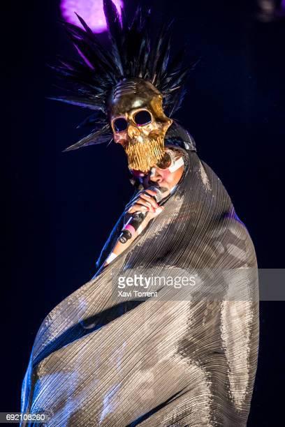 Grace Jones performs in concert during day 4 of Primavera Sound 2017 on June 3 2017 in Barcelona Spain