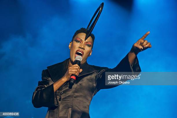 Grace Jones performs on Day 1 of ON Blackheath at Blackheath Common on September 13 2014 in London England