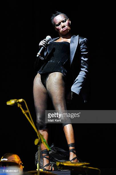 Grace Jones performs on day three of Wireless Festival at Hyde Park on July 3 2011 in London England