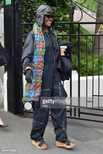 Grace Jones seen at Day 11 of Wimbledon 2017 on July 14 2017 in London England