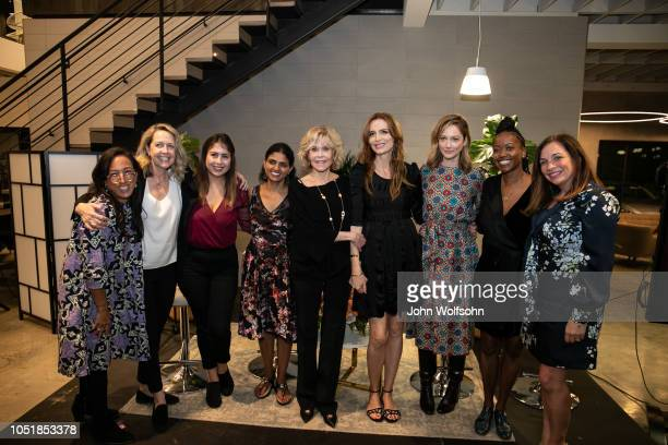 Grace Kahng Monica Horan Jael Madai Gonzalez Saru Jayamaran Jane Fonda Saffron Burrows Judy Greer Erica Alexander and Amy Nelson attend benefit in...