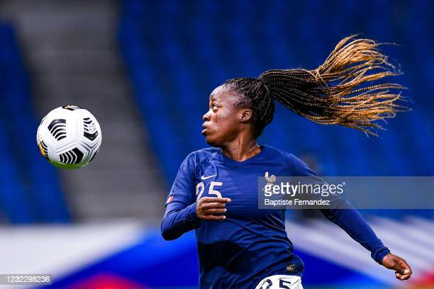 Grace KAZADI of France during the International soccer women friendly match between France and United States on April 13, 2021 in Le Havre, France.