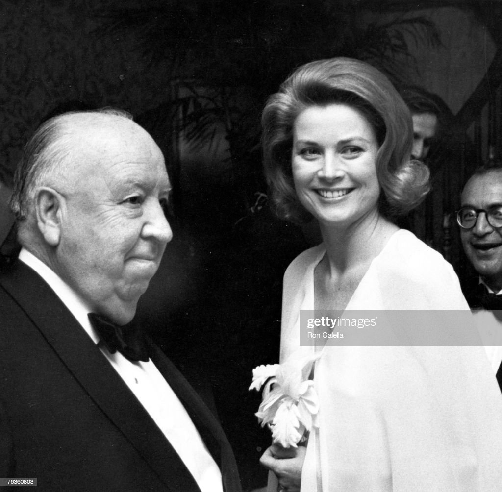 Grace Kelly & Alfred Hitchcock at a Film Society tribute to Hitchcock, 29th April 1974.