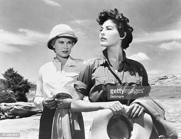 Grace Kelly and Ava Gardner in a scene from the 1953 film, Mogambo. 1954