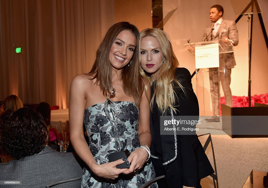 Grace Kelly Award recipient Jessica Alba (L) and fashion designer Rachel Zoe attends the March Of Dimes Celebration Of Babies Luncheon honoring Jessica Alba at the Beverly Wilshire Four Seasons Hotel on December 4, 2015 in Beverly Hills, California.