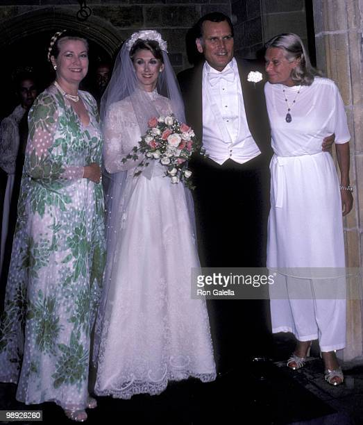 Grace Kelly Jack Kelly and Sondra Kelly attend Jack KellySondra Lee Worley Wedding Reception on May 28 1981 at the Wharton Sinkler Estate in...
