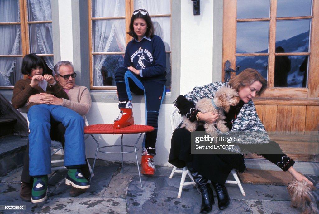 Grace Kelly et le Prince Rainier de Monaco dans les années 70 : News Photo