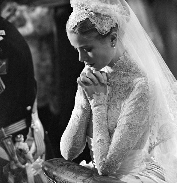 Princess Grace At Her Wedding
