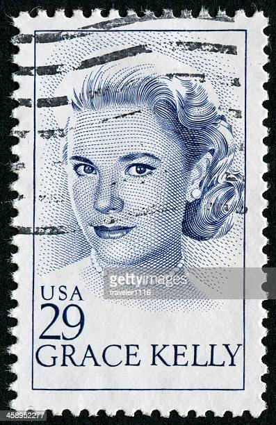 grace kelly stamp - grace kelly actress stock pictures, royalty-free photos & images