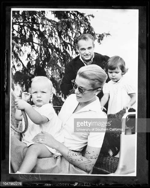 Grace Kelly with her husband and children , 6 June 1960..