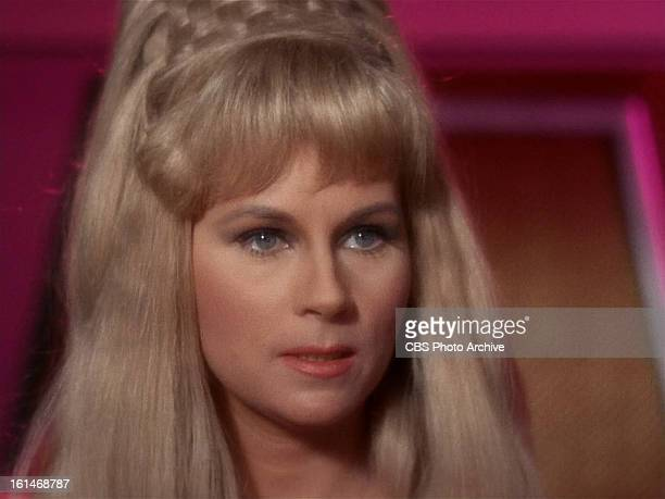 Grace Lee Whitney as Yeoman Janice Rand in in the STAR TREK episode Charlie X Season 1 episode 2 Original air date September 15 1966 Image is a...