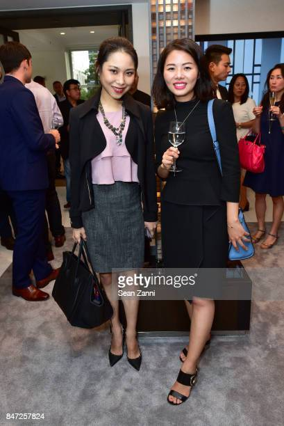 Grace Liu and Ashley Huang attend the Sales Launch for NoMad's Newest Luxury Condominium at 277 Fifth Avenue Sales Center on September 14, 2017 in...