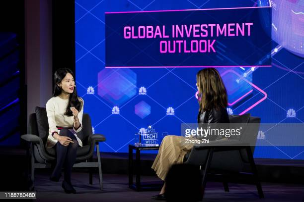 Grace Liu, Co-executive President of Fosun RZ Capital speaks with Deirdre Bosa, technology reporter of CNBC on Day 3 of CNBC East Tech West at LN...