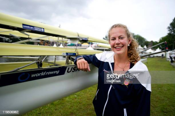 Grace Luczak of USA Women's Pair poses during the FISA World Rowing Under 23 Championships 2011 on the Bosbaan on July 21 2011 in Amsterdam...