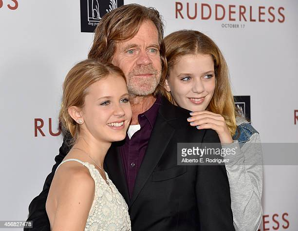 Grace Macy director/writer/actor William H Macy and Sohpia Macy attend the Screening Of Samuel Goldwyn Films' Rudderless at the Vista Theatre on...