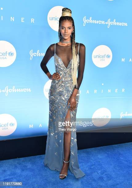 Grace Mahary attends the 15th Annual UNICEF Snowflake Ball at Cipriani Wall Street on December 03 2019 in New York City