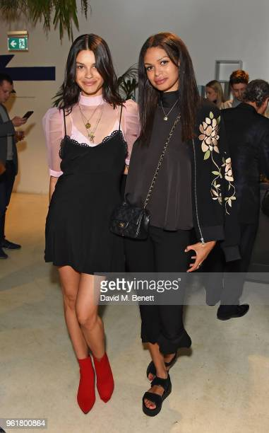 Grace McGovern and Phaedra Peer attend Lulu Guinness x Kodak Party on May 23 2018 in London England