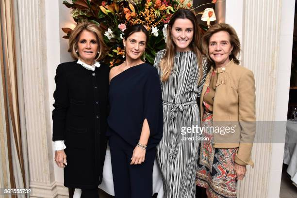 Grace Meigher Cristiana Vigano guest and Monica Noel attend QUEST VHERNIER Host Luncheon at MAJORELLE at Majorelle on October 17 2017 in New York City