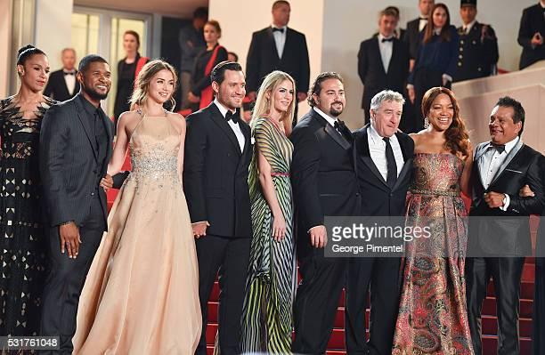 Grace Miguel, actor Usher, Ana de Armas, actor Edgar Ramirez, producer Claudine Jakubowicz, director Jonathan Jakubowicz, actor Robert DeNiro and his...