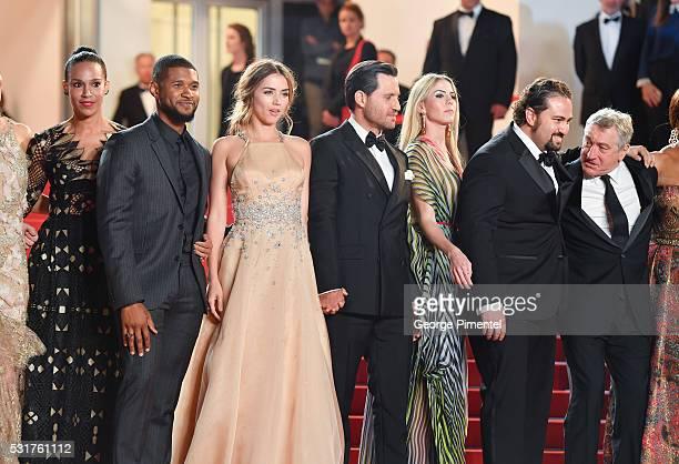 Grace Miguel, actor Usher, Ana de Armas, actor Edgar Ramirez, producer Claudine Jakubowicz, director Jonathan Jakubowicz and actor Robert DeNiro...