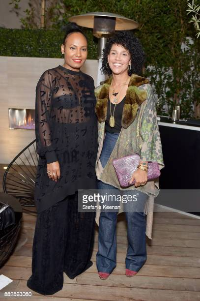 Grace Miguel and Ciarra Pardo attend Nicholas Kirkwood and China Chow Host A Dinner For Matches Fashion on November 29, 2017 in Los Angeles,...