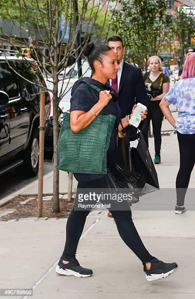 Grace Miguel is seen walking in Soho on September 30, 2015 in New York City.