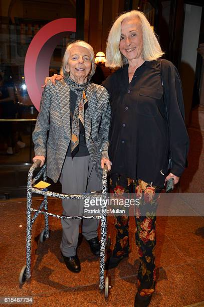 Grace Mirabella and Jade Hopson attend The New York Times Celebration of Bill Cunningham at Carnegie Hall on October 17 2016 in New York City