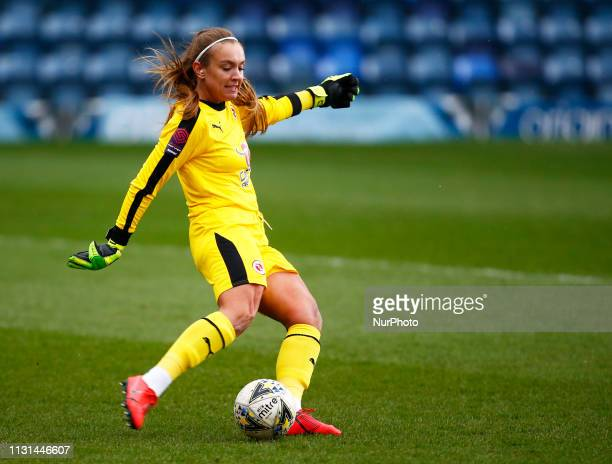 Grace Moloney of Reading FC Women during The SSE Womens FA Cup Quarter Final match between Reading FC Women and Manchester United Women at Adams Park...