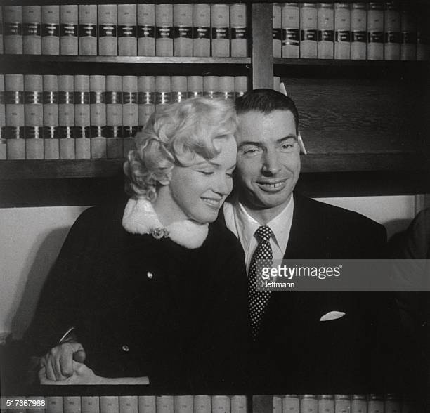 Grace must be natural and Marilyn Monroe and Joe DiMaggio demonstrate that without rehearsal This sequence of pictures were taken in the judge's...