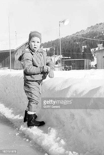 Grace Of Monaco On Holiday In St Moritz Suisse 8 février 1962 la Princesse GRÂCE DE MONACO en vacances dans la station de ski SaintMoritz Le Prince...