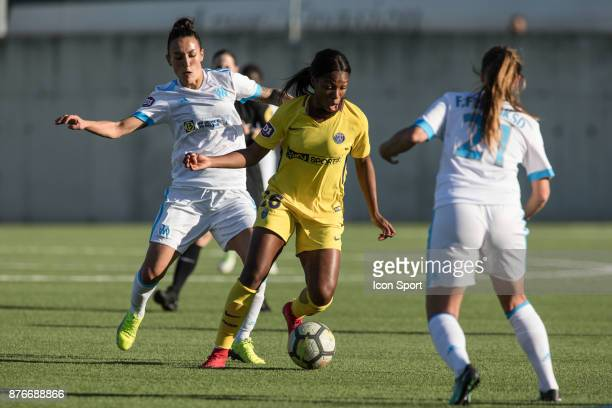 Grace Onema Geyoro of Paris during the women's Division 1 match between Marseille and Paris Saint Germain on November 18 2017 in Marseille France