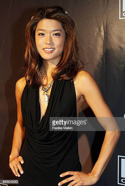 Grace Park arrives at the Hello Magazine Party held at Birks Jewellery store during the 2008 Toronto International Film Festival on September 6 2008...