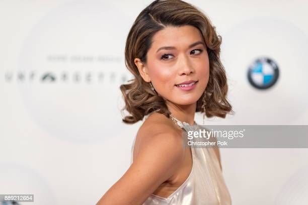 Grace Park arrives to at The 16th Annual Unforgettable Gala held at The Beverly Hilton Hotel on December 9, 2017 in Beverly Hills, California.
