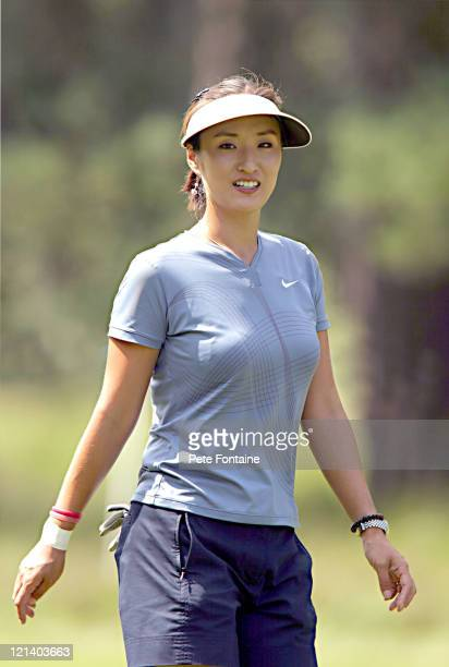 Grace Park competes during the third round of the Weetabix Women's British Open at the Sunningdale Golf Club on July 31 2004